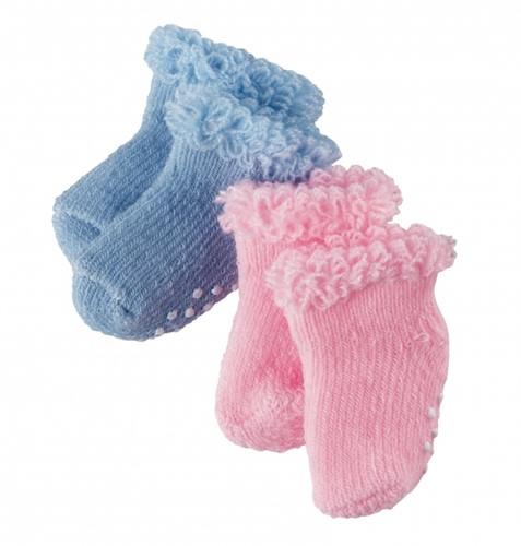 """Götz Boutique, sokken """"""""Blue & pink"""""""", babypoppen 30-33 cm / 42-46 cm / 48 cm (Inhoud: 2 paar)"""