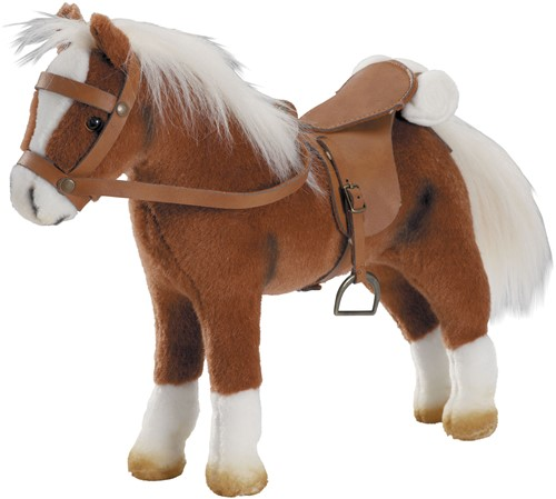 """Götz Boutique, paard met zadel en teugel, """"""""Springturniersieger"""""""", bruin, 27 cm"""