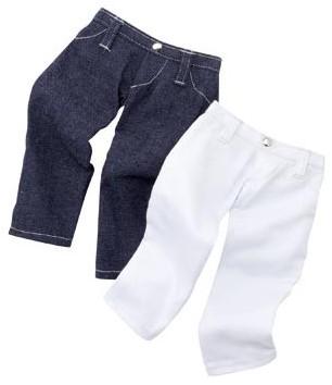 """Götz Boutique, set """"""""Jeans star"""""""", staanpoppen 45-50 cm (Inhoud: 2 stuks)"""