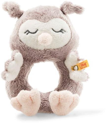 Steiff Soft Cuddly Friends Ollie owl grip toy with rattle