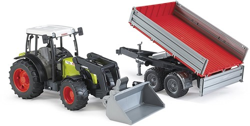 BRUDER Claas Nectis 267 F with Tipping trailer