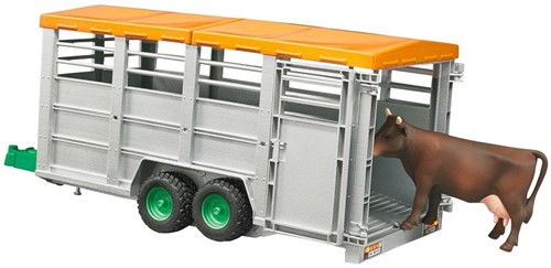 BRUDER Livestock trailer with 1 cow