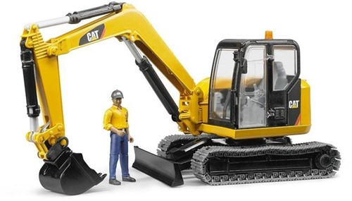 BRUDER Cat Mini Excavator with worker toy vehicle