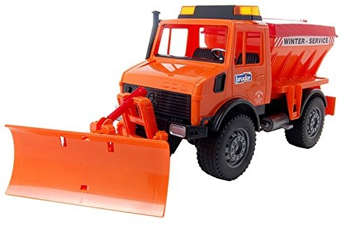 Bruder MB-Unimog winter service with snow plough