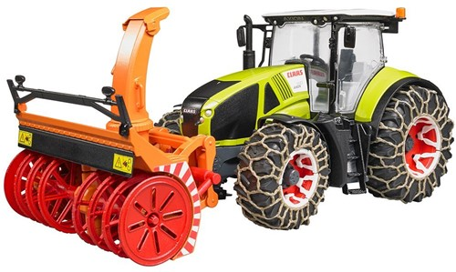 BRUDER Claas Axion 950 with snow chains and snow blower
