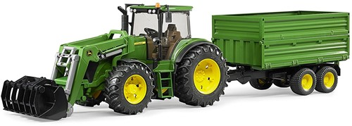 BRUDER John Deere 7930 with frontloader and trailer toy vehicle