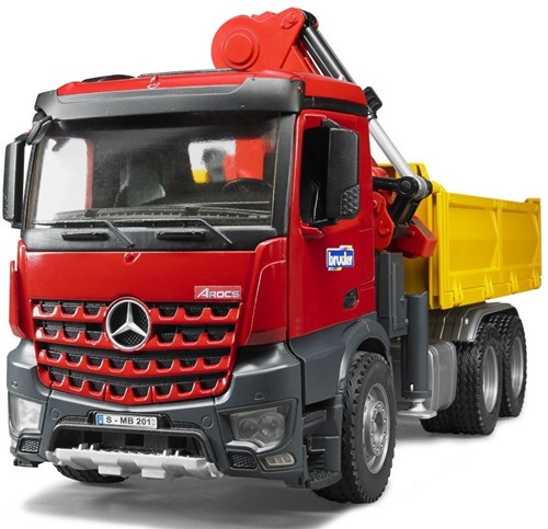 BRUDER MB Arocs Construction truck with accessories toy vehicle