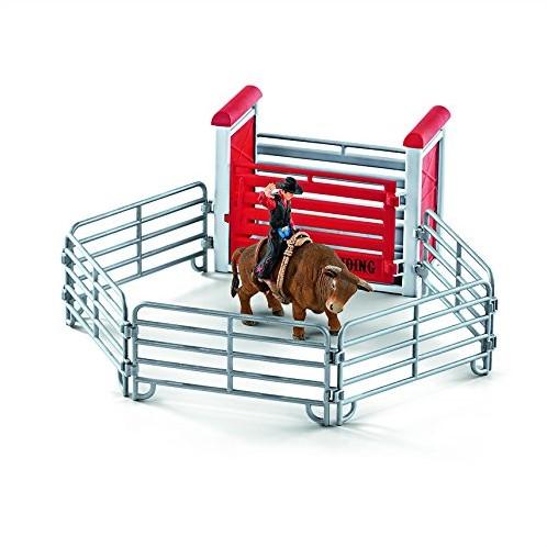 Schleich Farm Life Bull riding with cowboy