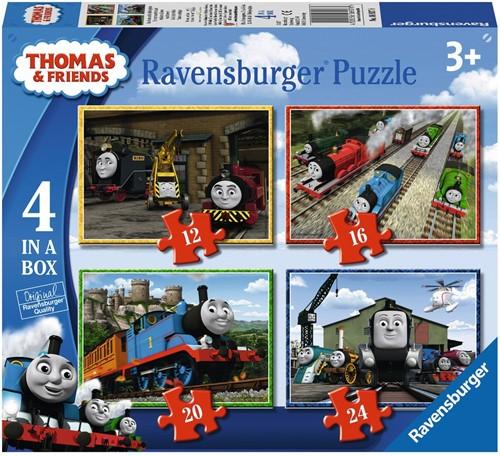 Ravensbuger Puzzel 4 Puzzels 6+9+12+16 stukjes T&F: Thomas & Friends