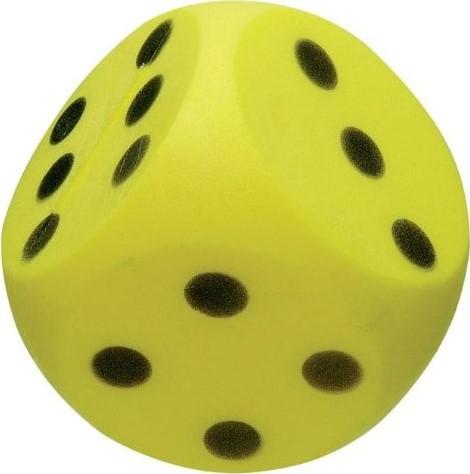 Planet Happy  buitenspeelgoed Foam dobbelsteen geel