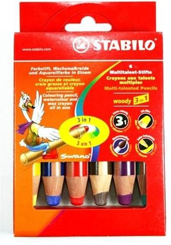 STABILO Woody 3 in 1 colour pencil 6 pc(s)