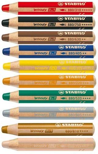 STABILO Woody 3 in 1 colour pencil 10 pc(s)
