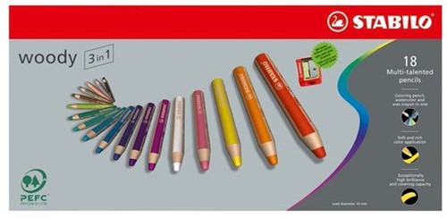 STABILO Woody 3 in 1 colour pencil 18 pc(s)