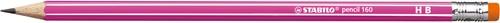 STABILO grafietpotlood + gumtip 160 HB roze