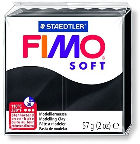 Staedtler FIMO 8020 Modelling clay Black 57 g 1 pc(s)