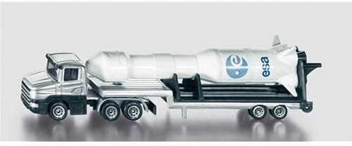 Siku Low Loader with rocket toy vehicle