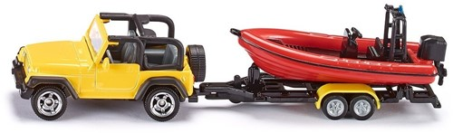 Siku Jeep with boat