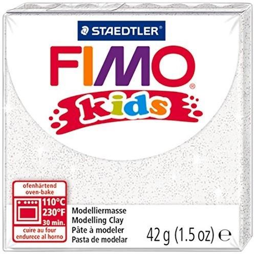 Fimo  kids klei - glitter wit
