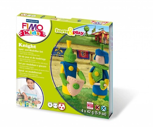 Staedtler FIMO kids 8034 Modelling clay Blue, Cream, Green, Yellow 42 g 1 pc(s)