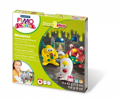 Staedtler FIMO kids 8034 Modelling clay Green,Red,White,Yellow 42 g 1 pc(s)