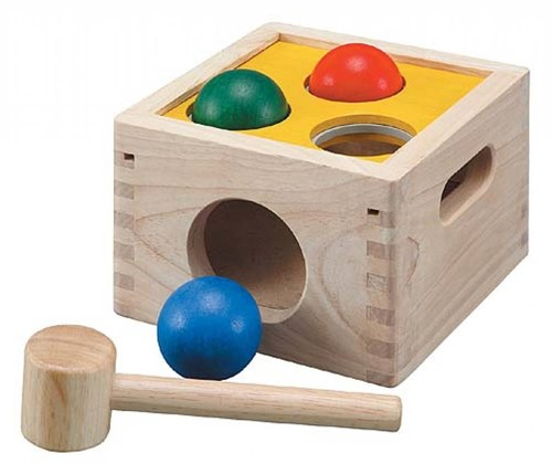 PlanToys Punch & Drop motor skills toy