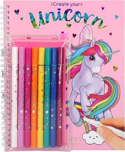 Depesche Ylvi & the Minimoomis Colouring Book With Magic Felt Pens