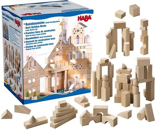 HABA Blokken - Groot basispakket (60 blokken)