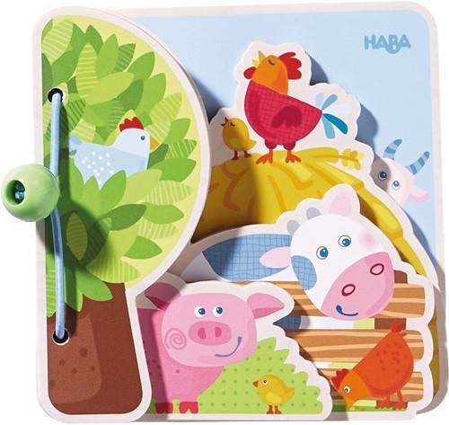 Houten babyboek Boerderijvrienden