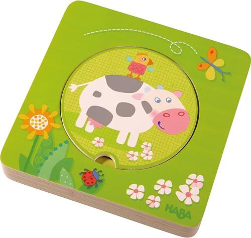 HABA Wooden puzzle Farm animals