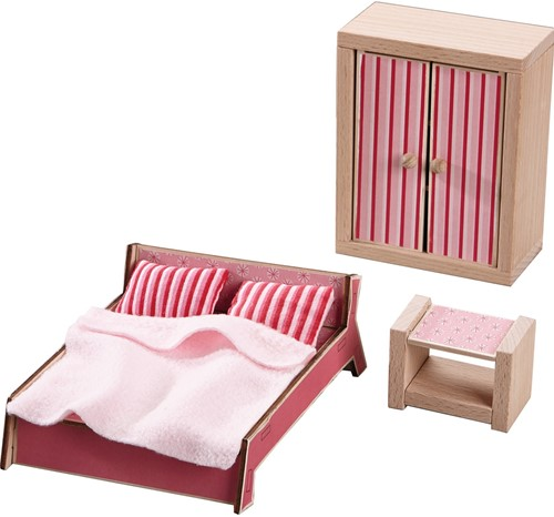 HABA Little Friends - Dollhouse Furniture Master bedroom