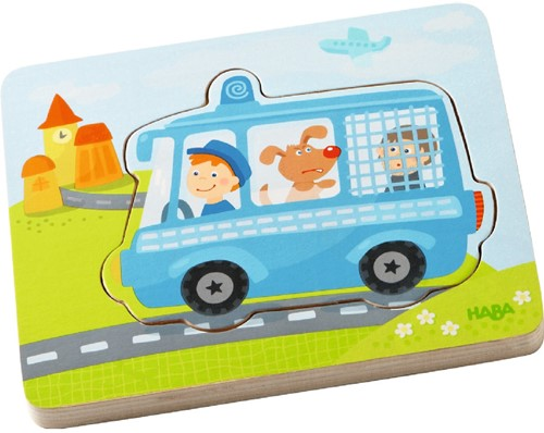 HABA Wooden puzzle Emergency call!