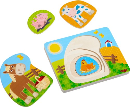 HABA Wooden puzzle Fun on the Farm