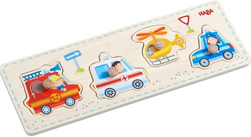 HABA Clutching puzzle Rescue vehicles