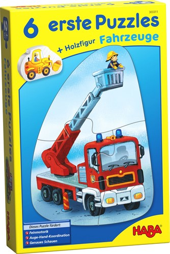 HABA 6 Little Hand Puzzles - Vehicles