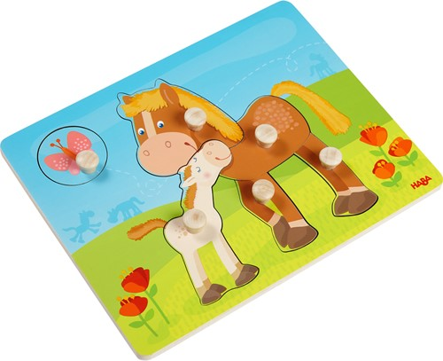 HABA Clutching puzzle Pony family