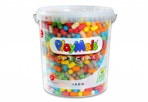 PlayMais  knutselspullen 1500 stuks emmer