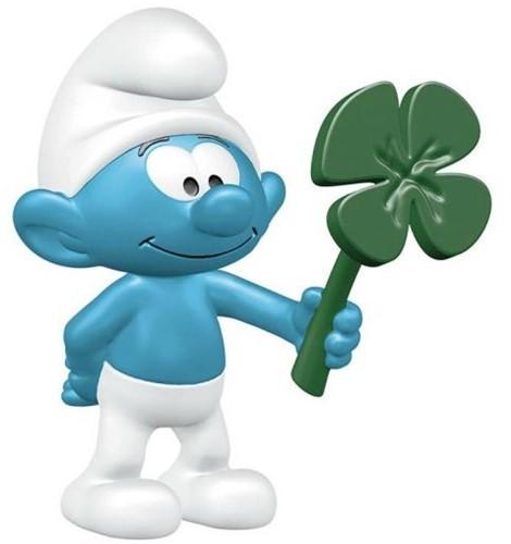 Schleich Smurf with clover leaf