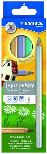 Lyra Box of 6 Super-FERBY®  METALLIC colours, asst'd