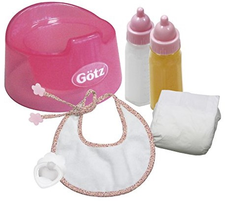 "Götz Needful Things, set, """"Basic care"""", babypoppen 30-33 cm / 42-46 cm (Inhoud: 7-delig)"