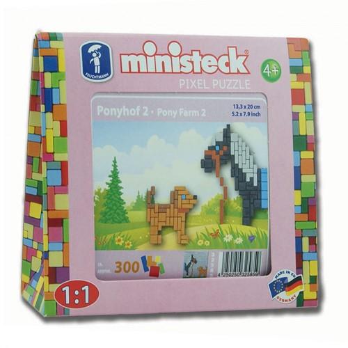 Ministeck Pony met hond - 300 stukjes