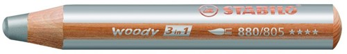 STABILO woody 3 in 1 colour pencil 1 pc(s) Silver