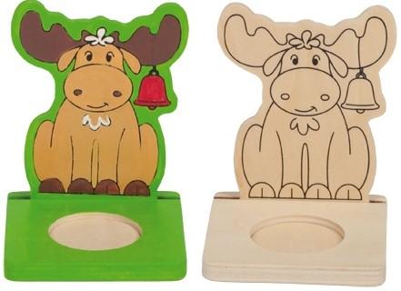 Beleduc  houten knutselspullen kerstlicht eland