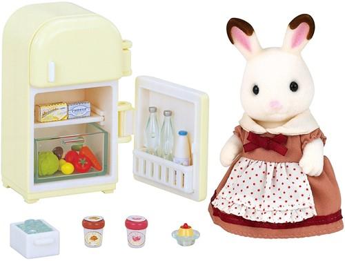 Sylvanian Families Chocolate Rabbit Mother Set (Fridge)