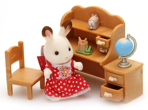 Sylvanian Families Chocolate Rabbit Sister Set (Desk)