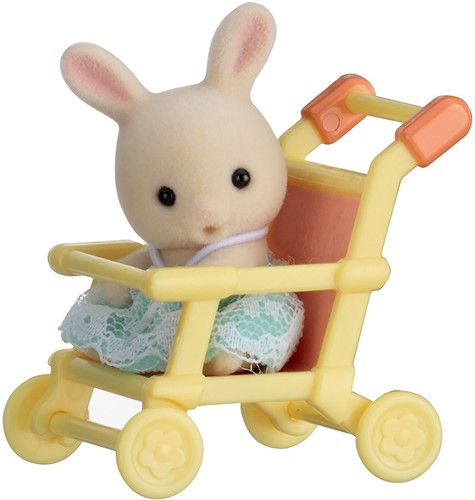 Sylvanian Families Baby Carry Case (Rabbit on Pushchair)