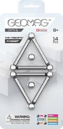 Geomag Pro-L Magnetic Fidget neodymium magnet toy 14 pc(s) Silver
