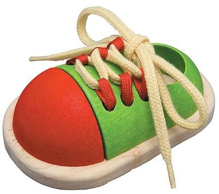 PlanToys Tie-up Shoe motor skills toy