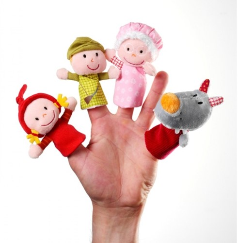 Lilliputiens Little Red Riding Hood Finger Puppets