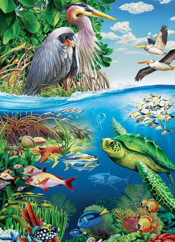 Cobble Hill family puzzle 350 pieces - Earth Day