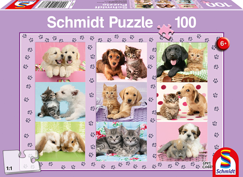 Schmidt Mijn Dieren Vrienden, 100 stukjes